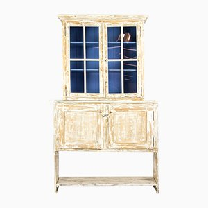 Antique Glass and Wood Vitrine