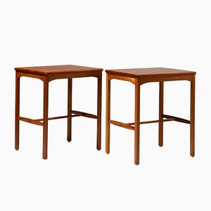 Modernist Mahogany Side Tables by Carl Malmsten, 1950s, Set of 2