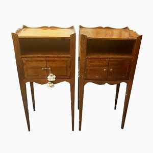 Antique Walnut Nightstands, 1820s