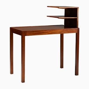 Swedish Mahogany Bedside Table with Bookshelf by Josef Frank for Svenskt Tenn, 1950s