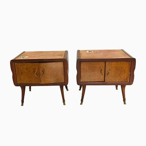 Mid-Century Wooden Nightstands, 1960s, Set of 2