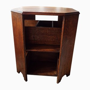 Vintage Oak Octagonal Library Table, 1930s