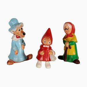 Italienisches Mid-Century Rotkäppchen-Figuren-Set von Ledra Plastic, 1960er