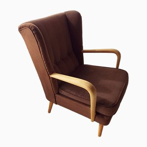 Mid-Century Beech Wingback Armchair by Howard Keith, 1960s