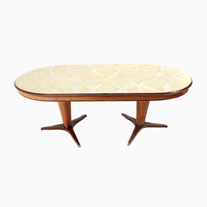 Mid-Century Oval Italian Dining Table, 1950s