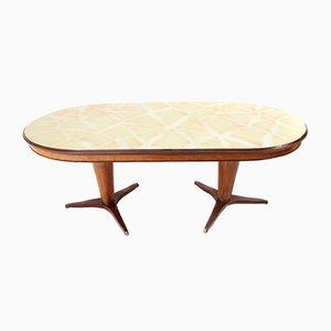 Table de Salle à Manger Ovale Mid-Century, Italie, 1950s