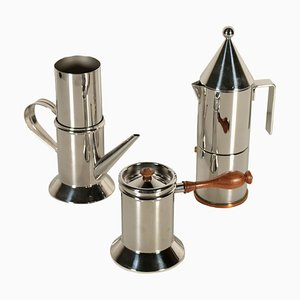 Italian Coffee Makers from Officina Alessi, 1980s, Set of 2