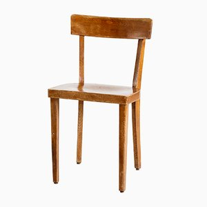 Mid-Century German Oak Side Chair, 1950s
