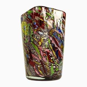Vaso Rest of Day in vetro di Murano di Dino Martens per Aureliano Toso, anni '50