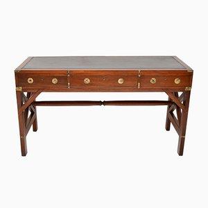 Antique Leather & Mahogany Desk