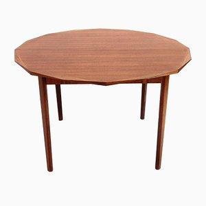 Mesa de comedor Mid-Century redonda de madera de Tredici, 1960