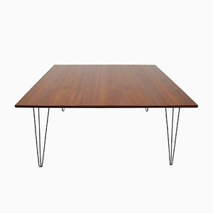 Mid-Century Iron & Wood Dining Table, 1960s