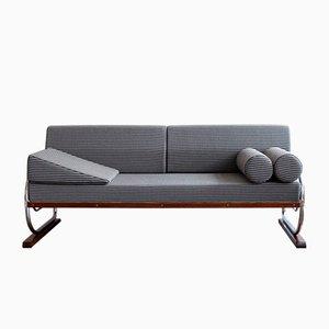Tschechoslowakisches Vintage Art Deco Sofa mit Gestell aus Stahlrohr von Robert Slezak für Slezak