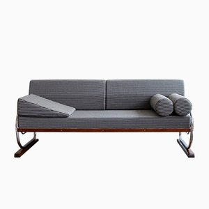 Vintage Czech Art Deco Tubular Steel Sofa by Robert Slezak for Slezak