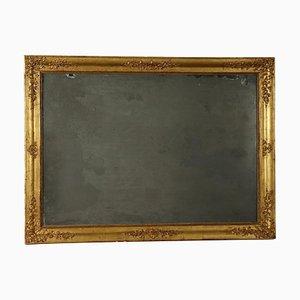 Espejo italiano dorado grande, siglo XIX