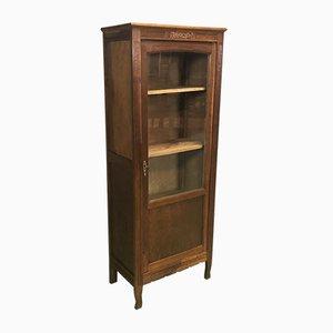 Vintage French Oak Display Cabinet, 1930s