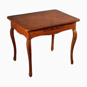 Antiker italienischer Schreibtisch aus Kirsch & Olivenholz