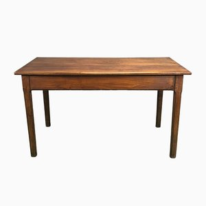 Vintage Minimalist French Cherry Farmhouse Table, 1930s