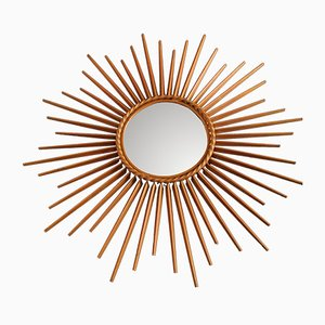 Mid-Century French Sunburst Mirror from Chaty Vallarius, 1950s
