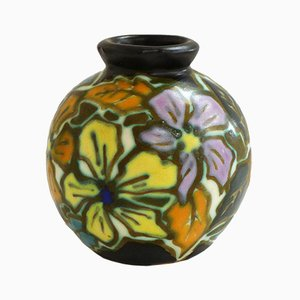 Art Deco Glazed Earthenware Vase from Bergen, 1930s