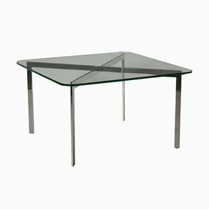 Italian Chromed Metal Coffee Table, 1980s