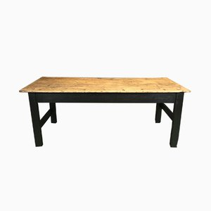 Vintage Hand-Crafted French Fir Farmhouse Table