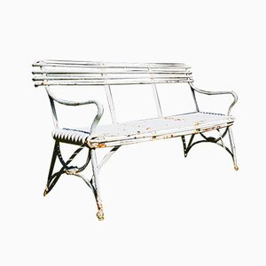 Antique French Cast Iron Garden Bench