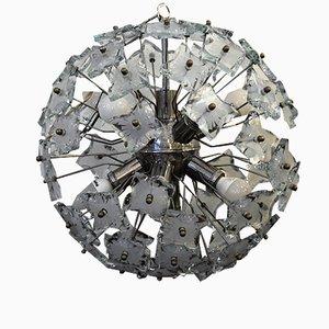 Lámpara de araña Sputnik italiana de Fontana Arte, años 60