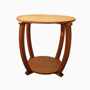 Mid-Century Circular Beech Side Table from Heals, 1941