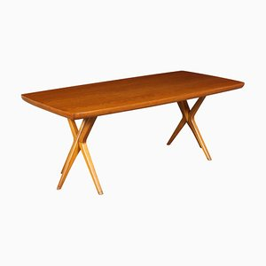 Mid-Century Beech and Oak Dining Table, 1950s