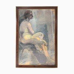 Pintura de mujer sentada de Noemi Frascio, años 60