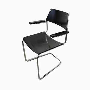 Steel Tube Cantilever Armchair by Walter Papst for Mauser Werke, 1950s