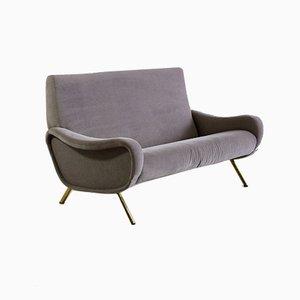 Italienisches Mid-Century Sofa mit Veloursbezug von Marco Zanuso für Arflex, 1951