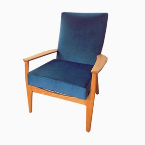 Vintage Velvet Model 988 Armchair from Parker Knoll, 1960s