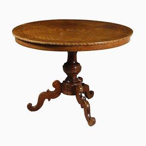 Table Basse Antique en Merisier, Erable et Noyer, Italie