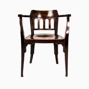 Antique Art Nouveau Austrian Wooden No. 714 Armchair by Otto Wagner, 1900s