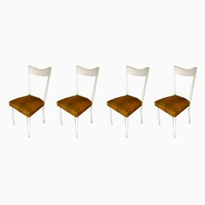 Italian Wood and Lacquer Dining Chairs by Melchiorre Bega for Altamira, 1950s, Set of 4