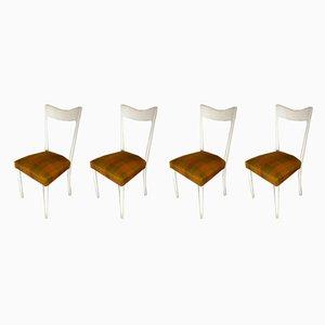 Italienische Esszimmerstühle aus lackiertem Holz von Melchiorre Bega für Altamira, 1950er, 4er Set