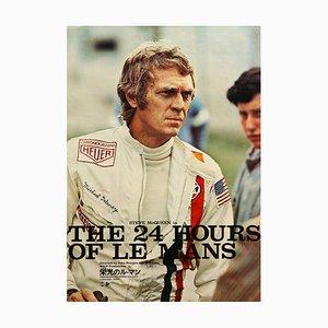 Póster de la película Le Mans japonés vintage, 1971
