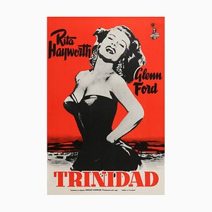 Mid-Century Finnish Affair in Trinidad Film Poster by Engel, 1952