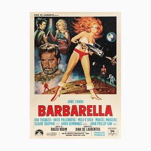 Space Age Italian Barbarella Film Poster by Mario De Berardinis, 1968
