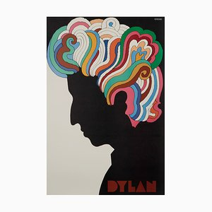 Mid-Century Bob Dylan US Souvenir Poster by Milton Glaser, 1967