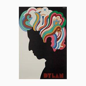 Póster de Bob Dylan estadounidense Mid-Century de Milton Glaser, 1967