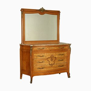 Commode à Tiroirs Antique avec Miroir, Italie