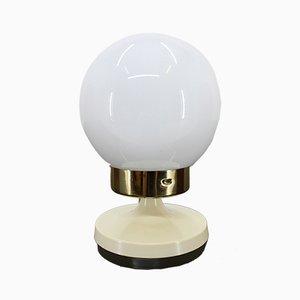 Lampe de Bureau Vintage en Laiton et Verre, 1980s
