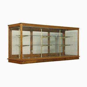Antiker italienischer Schrank aus Messing & Glas