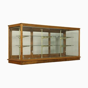 Antique Italian Brass and Glass Cabinet