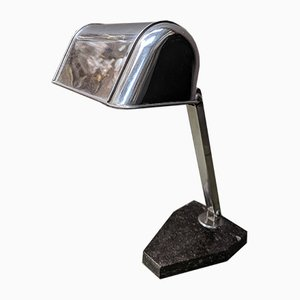 Art Deco French Chrome Desk Lamp from Artisanat Francais
