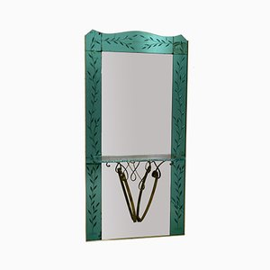 Italian Crystal Entrance Mirror by Pier Luigi Colli, 1950s