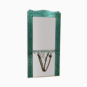 Miroir d'Entrée en Cristal par Pier Luigi Colli, Italie, 1950s